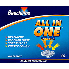Beechams : Beechams All In One Tablets No 16's