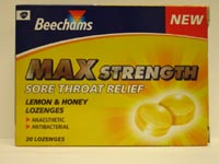 Beechams : Beechams Max Strength Lozenges 10's