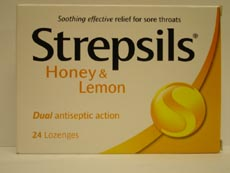Strepsils : Strepsils Honey & Lemon Lozeng 24 - Click Image to Close
